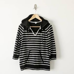 Lacoste Striped Hooded Pullover